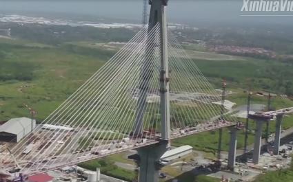Cây cầu đầu tiên bắc qua kênh đào Panama phía Đại Tây Dương
